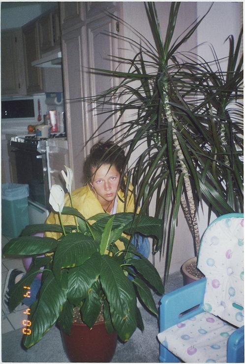 BIZARRE WOMAN HIDES behind POT PLANTS in KITCHEN / STUDIO APARTMENT!
