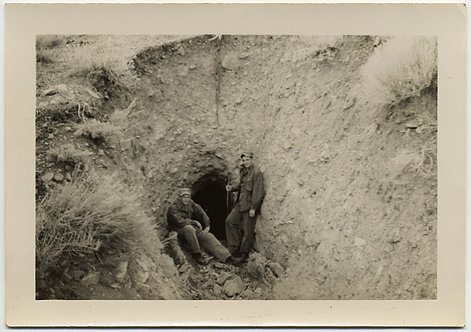 MEN at the MINE SHAFT OPENING HOLE in the GROUND EARTH TUNNEL to NOWHERE?