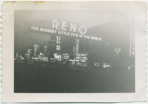 LIGHTS at ENTRANCE to RENO NEVADA announce BIGGEST LITTLE CITY in the WORLD