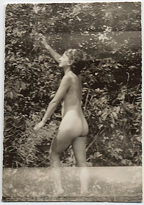 TINY NUDE of YOUNG WOMAN PICKING FRUIT?