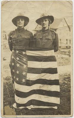 fp6185(Women_RangerUniforms_WearingAmericanFlagAroundWaists_Patriotic)