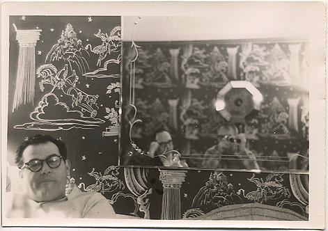 SUPER COMPLEX! MAN, CRAZY WALLPAPER, MIRROR REFLECTION of PHOTOGRAPHER + ANOTHER