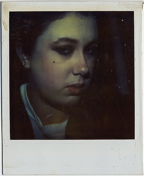 MOODY WOMAN in ATMOSPHERIC POLAROID GIVES PHOTOGRAPHER the EVIL EYE!