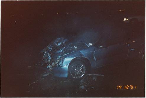 4x COLOR CAR CRASH PHOTOS!