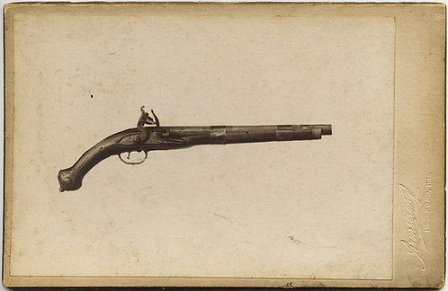 RARE CABINET CARD of PISTOL (flint lock?) UNUSUAL