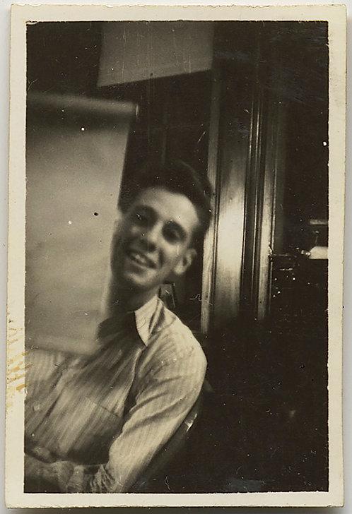 STUNNING TINY PORTRAIT of HANDSOME MAN