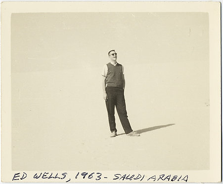 SUPER UNUSUAL & RARE AMERICAN Ed Wells in SAUDI ARABIA DUNE ABSTRACT WHITE 1963!