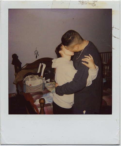 MESSY BED DREAM CATCHER & KISS of a LIFETIME LOVERS EMBRACE POLAROID