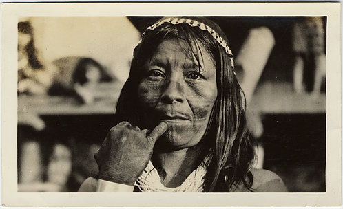 SUPERB PORTRAIT CENTRAL? AMERICAN PANAMA INDIAN NATIVE AMERICAN MAN PORTRAIT