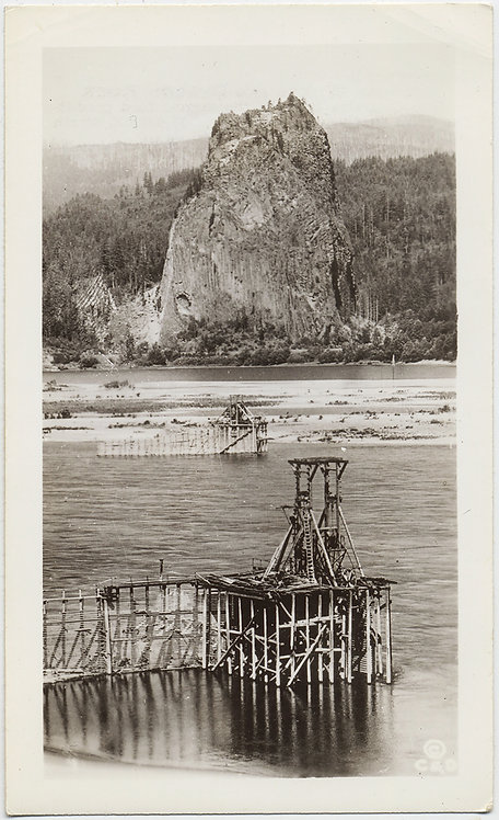 UNUSUAL LANDSCAPE SALMON WHEEL BEACON ROCK COLUMBIA RIVER Cross & Dimmitt OREGON