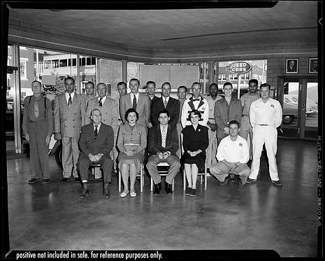 PRESS NEGATIVE McDowell Manufacturing Co GR8T STAFF GROUP PHOTO AUTO DEALERSHIP
