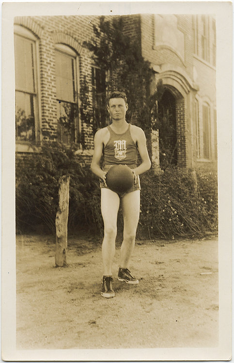 SEXY BASKETBALL PLAYER and his BALL! Great SPORTS PORTRAIT!