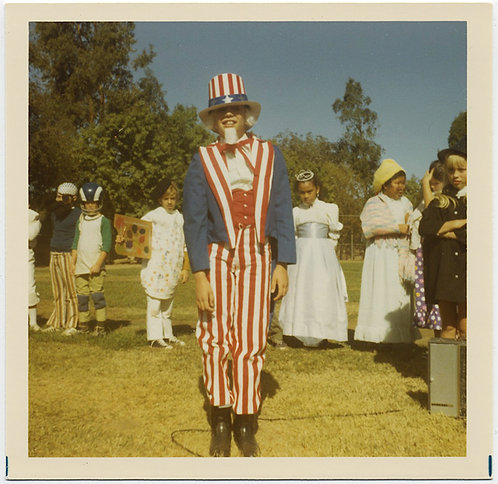KIDS in COSTUMES FANCY DRESS w UNCLE SAM in STRIPED PATRIOTIC  OUTFIT