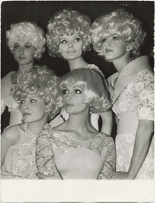 A GAGGLE of BLONDES...Platinum BLONDE WIGS Press Photo