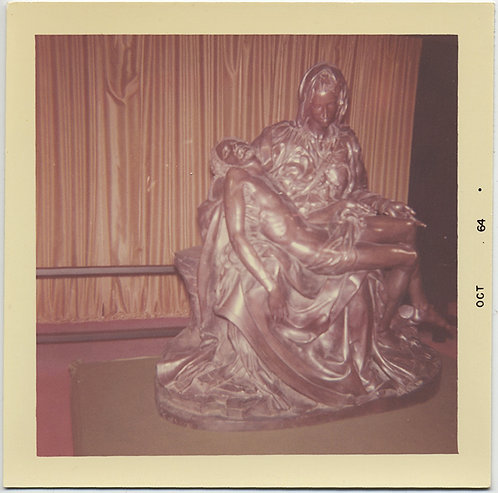 PIETA iconic MICHELANGELO REPRO SCULPTURE of MARY and JESUS HOT OFF THE CROSS