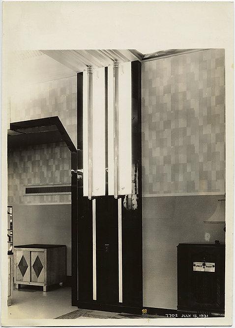 GENERAL ELECTRIC EXHIBITION FLUORESCENT LIGHT DECO INTERIOR 1931