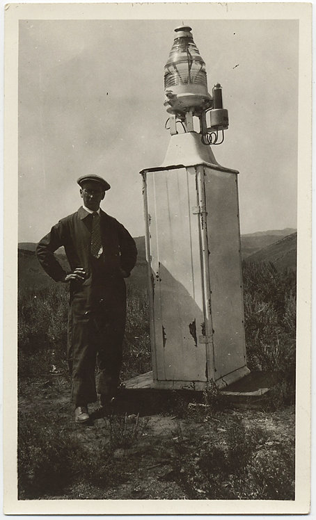 UNUSUAL Mr Brown (IDd) STANDS NEXT to LIGHT HOUSE BEACON LIGHT