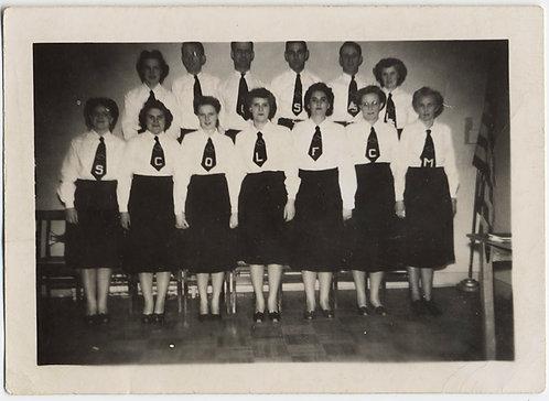 WOMEN'S GROUP CHOIR? w WEIRD UNUSUAL TIES w MYSTERY LETTERS STRANGE!