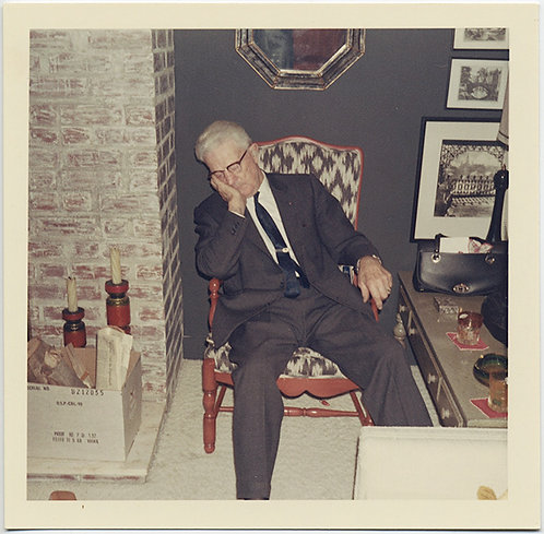 SLEEPING OLDER MAN in SUIT TAKES TIME OUT after COCKTAILS