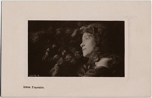 RPPC of GORGEOUS Irene Franklin with FLOWING HAIR! Davidson Bros.