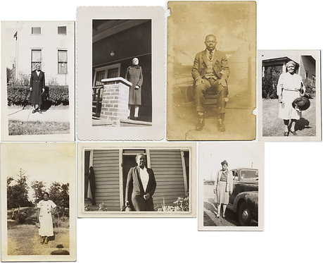 LARGE LOT: AFRICAN AMERICAN MEN and WOMEN PORTRAITS