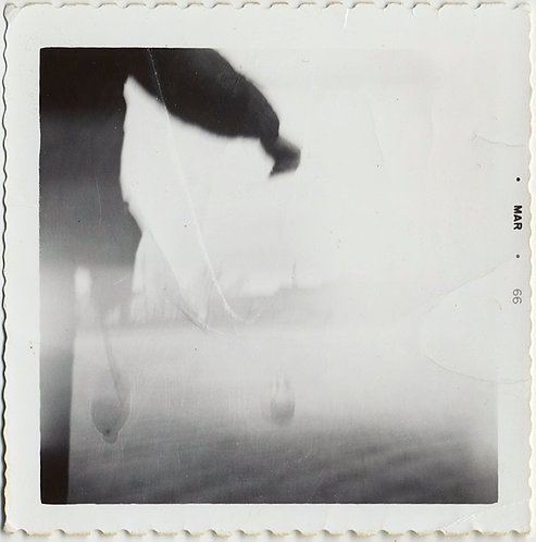 STUNNING ALMOST ABSTRACT RUNNING FIGURE THROUGH HAZE LIGHT LEAK EXPRESSIONISTIC