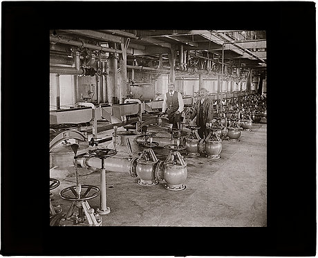 LANTERN SLIDE:  DIFFUSION BATTERIES for SUGAR BEET JUICE EXTRACTION INDUTRIAL