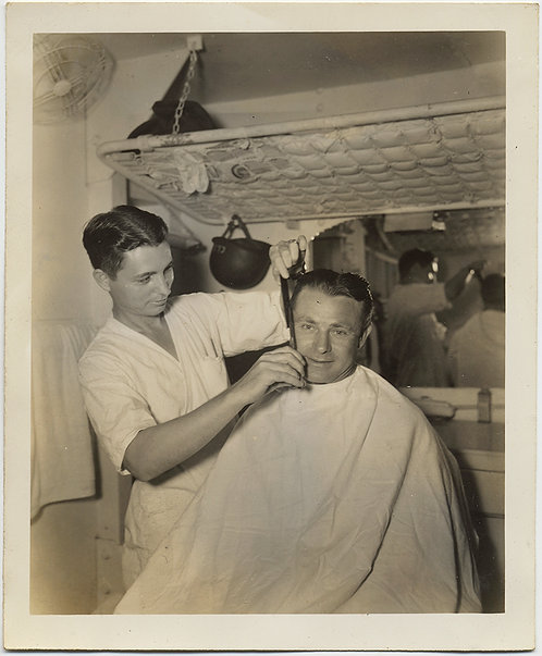 CUTE HOT MILITARY BARBER CUTS HAIR in MAKESHIT BARBERSHOP under BUNK AWESOME!