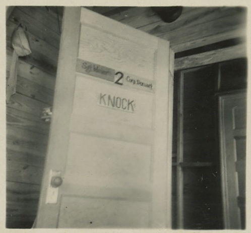 MILITARY BARRACKS DOOR KNOCK with GREAT CAPTION