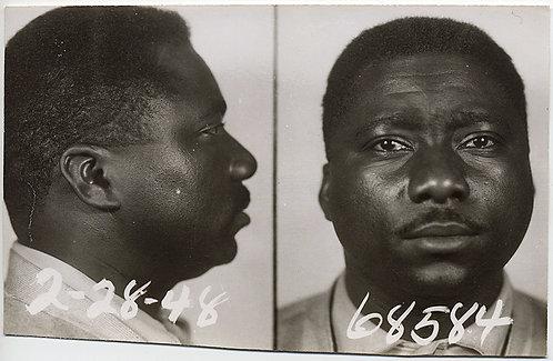 STUNNING MUGSHOT of EMOTIONAL OVERWROUGHT TEARY EYED BLACK AFRICAN-AMERICAN MAN