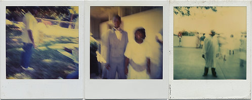 3 POLAROIDS of BLURRY AFRICAN AMERICAN BLACK WOMEN and MEN
