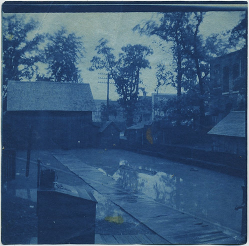 """""""Our back yard"""" ARMOURDALE FLOOD 9 May 1903 CYANOTYPE"""