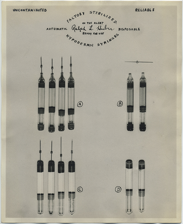 fp2420(Dudley_HypodermicSyringes_Advertisement_CaptionUncontaminatedReliable)