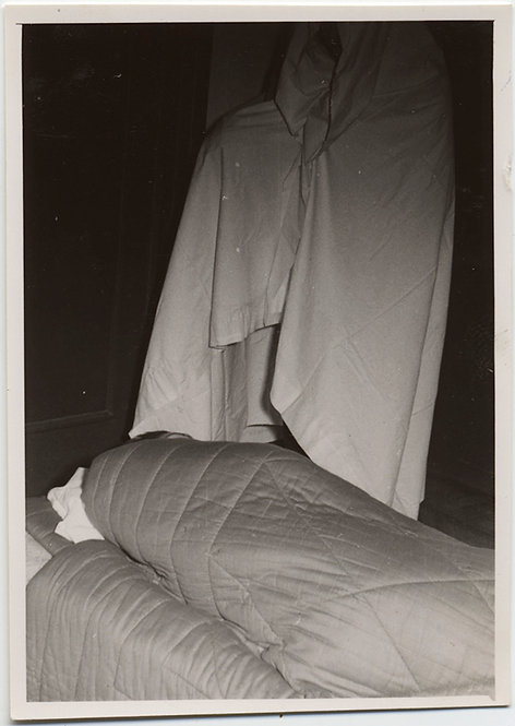 WEIRD & UNUSUAL MASKED BLANKETED FIGURE HAUNTS HIDDEN SLEEPING SLEEPER