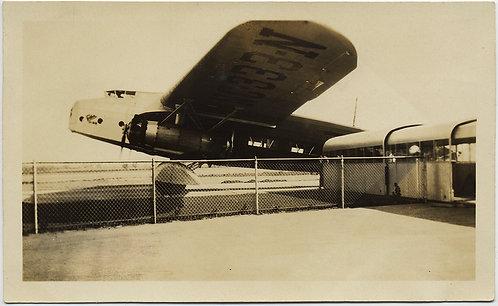 FABULOUS EARLY PASSENGER PLANE at LANDING GATE Plane I left Los Angeles on 1930