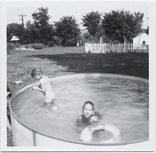 KIDS of SUMMER SWIM in BACKYARD ABOVE GROUND POOL
