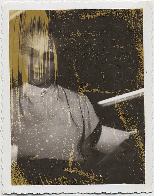 WONDERFUL DISTRESSED EMULSION DEVELOPING MISTAKE POLAROID PORTRAIT WOMAN