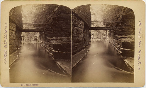 HAVANA GLEN NY #4 Council Chamber STEREOVIEW WILLIS D GATES LONG EXPOSURE BRIDGE