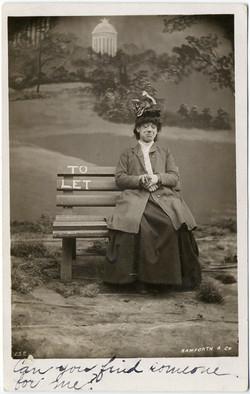 fp2274(RPPC_Woman-Bench-ToLet)