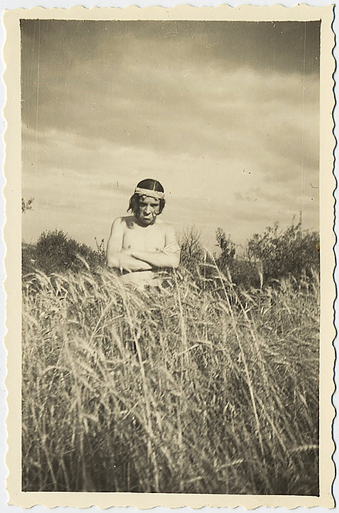 GRUMPY KID as DISGRUNTLED INDIAN NATIVE AMERICAN RACIST STEREOTYPE  LONG GRASS!