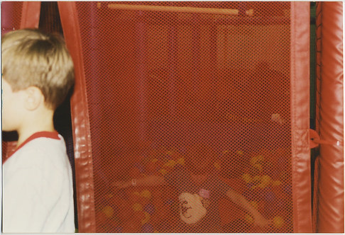 FANTASTIC SURREAL 4X6 BAD CROP BOY and IMPRISONED PLAYPEN CHILD
