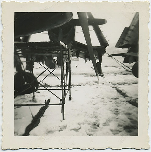 AVIATION ABSTRACT PLANES in SNOW PROPELLERS UNUSUAL COMPOSITION