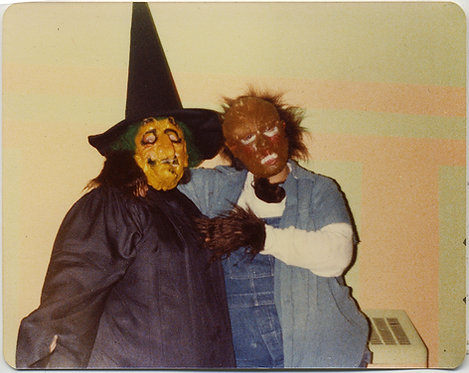SCARY HOMEMADE UGLY ASSED WITCH & SASQUATCH HOCKEY MASKED COMPANION YIKES