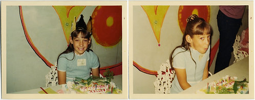 LOVELY YOUNG GIRL Kelly CELEBRATES COLORFUL BIRTHDAY w CROWN & ELABORATE CAKE
