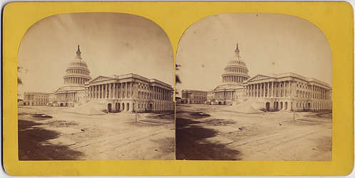 LOVELY STEREOVIEW of US CAPITOL by BELL & BRO Washington DC