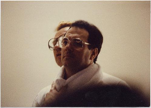 HUMAN CERBERUS 2 HEADED MONSTER MAN w DORKY GLASSES