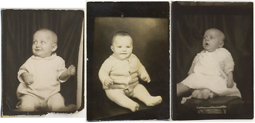 3 PHOTOBOOTH PORTRAITS ADORABLE BABY