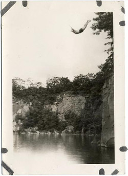 fp1335 (swallow diver into natural pool)