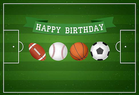 SPORTS Birthday Party Banner Background Photography Prop