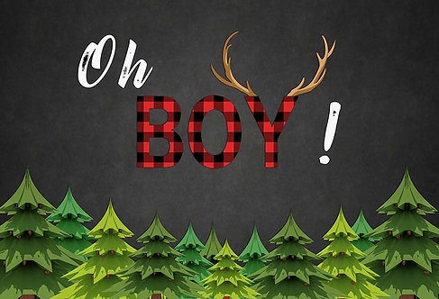 OH Boy birthday Party Banner Background Photography Prop